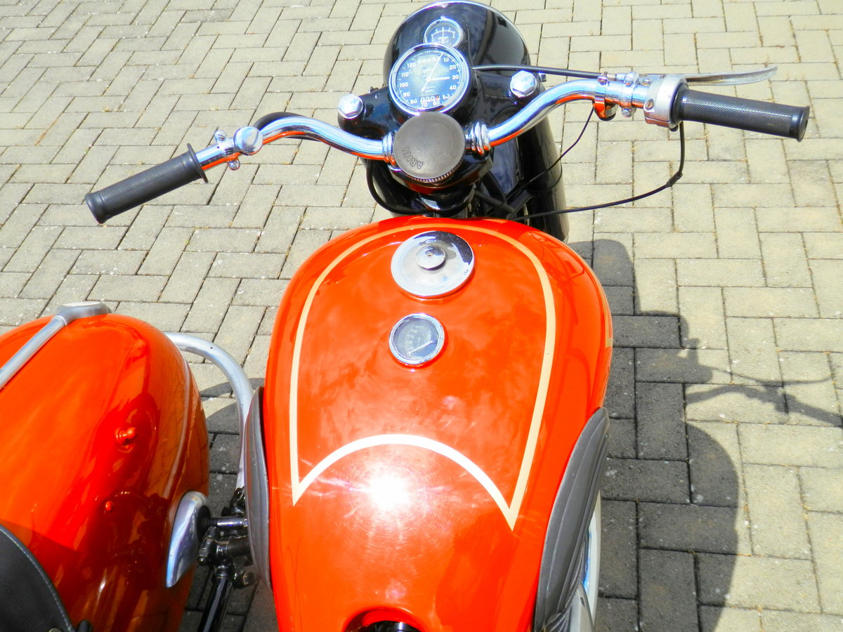 1950 Ariel Square Four 4 Mark 1 with Steib s 250 sidecar For Sale (picture 2 of 6)