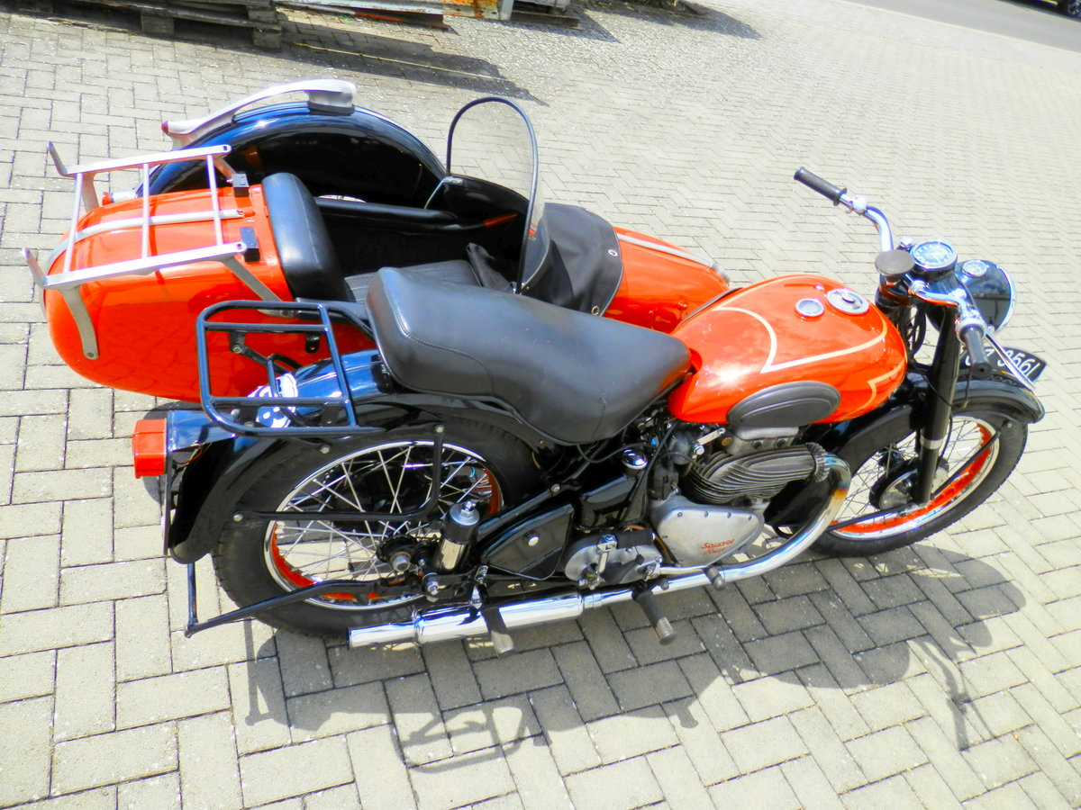 1950 Ariel Square Four 4 Mark 1 with Steib s 250 sidecar For Sale (picture 3 of 6)
