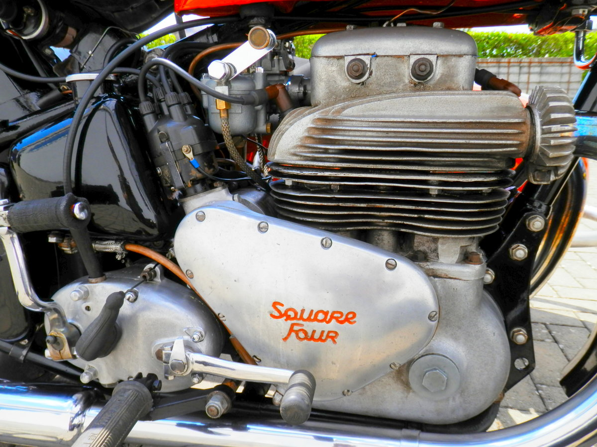 1950 Ariel Square Four 4 Mark 1 with Steib s 250 sidecar For Sale (picture 4 of 6)