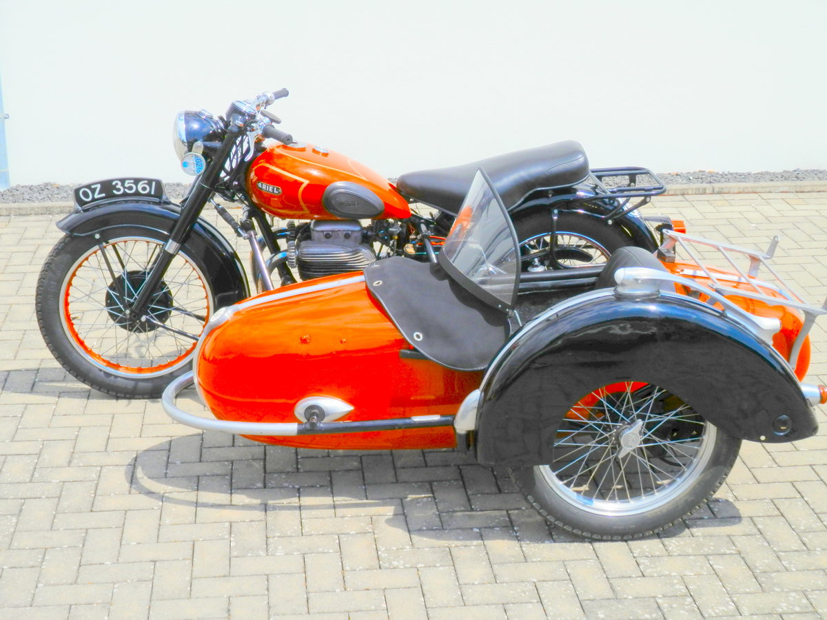 1950 Ariel Square Four 4 Mark 1 with Steib s 250 sidecar For Sale (picture 6 of 6)