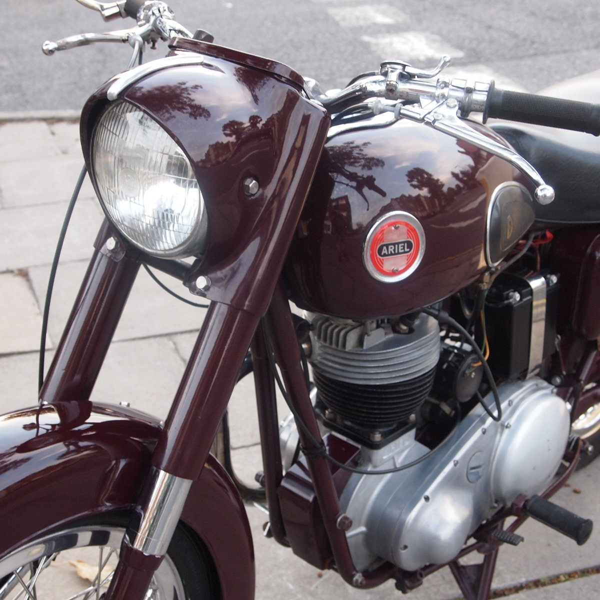 1957 Ariel NH350 Red Hunter, RESERVED FOR REMKO SOLD (picture 2 of 6)
