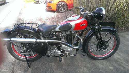1937 Ariel 500cc Red Hunter Single, High Pipe Model For Sale (picture 1 of 6)