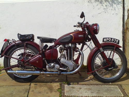 1951 ARIEL VH 500 RED HUNTER SOLD (picture 1 of 6)