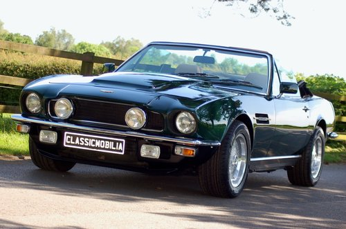 1982 Aston Martin V8 Volante Left Hand Drive Manual For Sale (picture 1 of 6)