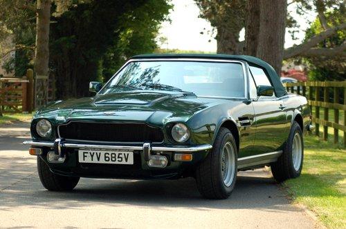 1979 Aston Martin V8 Volante Manual For Sale (picture 1 of 6)