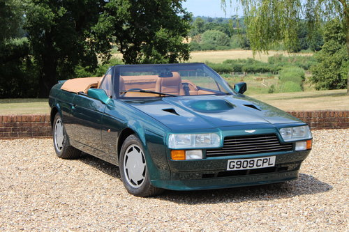 1990 Aston Martin V8 Zagato Vantage Volante - Hunter Green For Sale (picture 1 of 6)