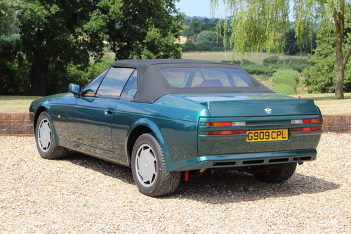 1990 Aston Martin V8 Zagato Vantage Volante - Hunter Green For Sale (picture 2 of 6)