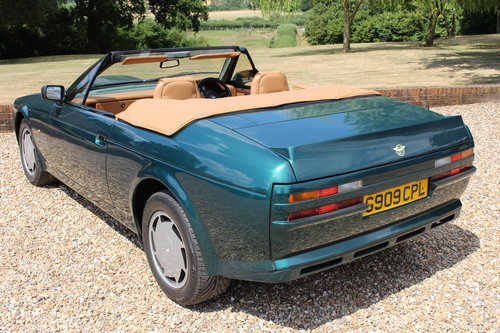 1990 Aston Martin V8 Zagato Vantage Volante - Hunter Green For Sale (picture 5 of 6)