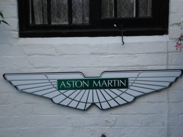 Large Aston Martin Repro wall plaque For Sale (picture 1 of 3)