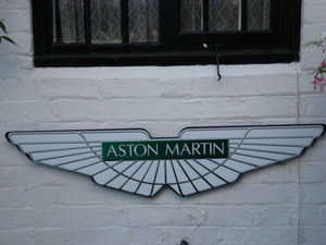 Large Aston Martin Repro wall plaque