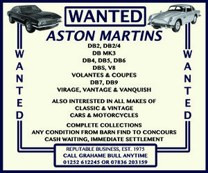 WANTED! ASTON MARTIN Wanted