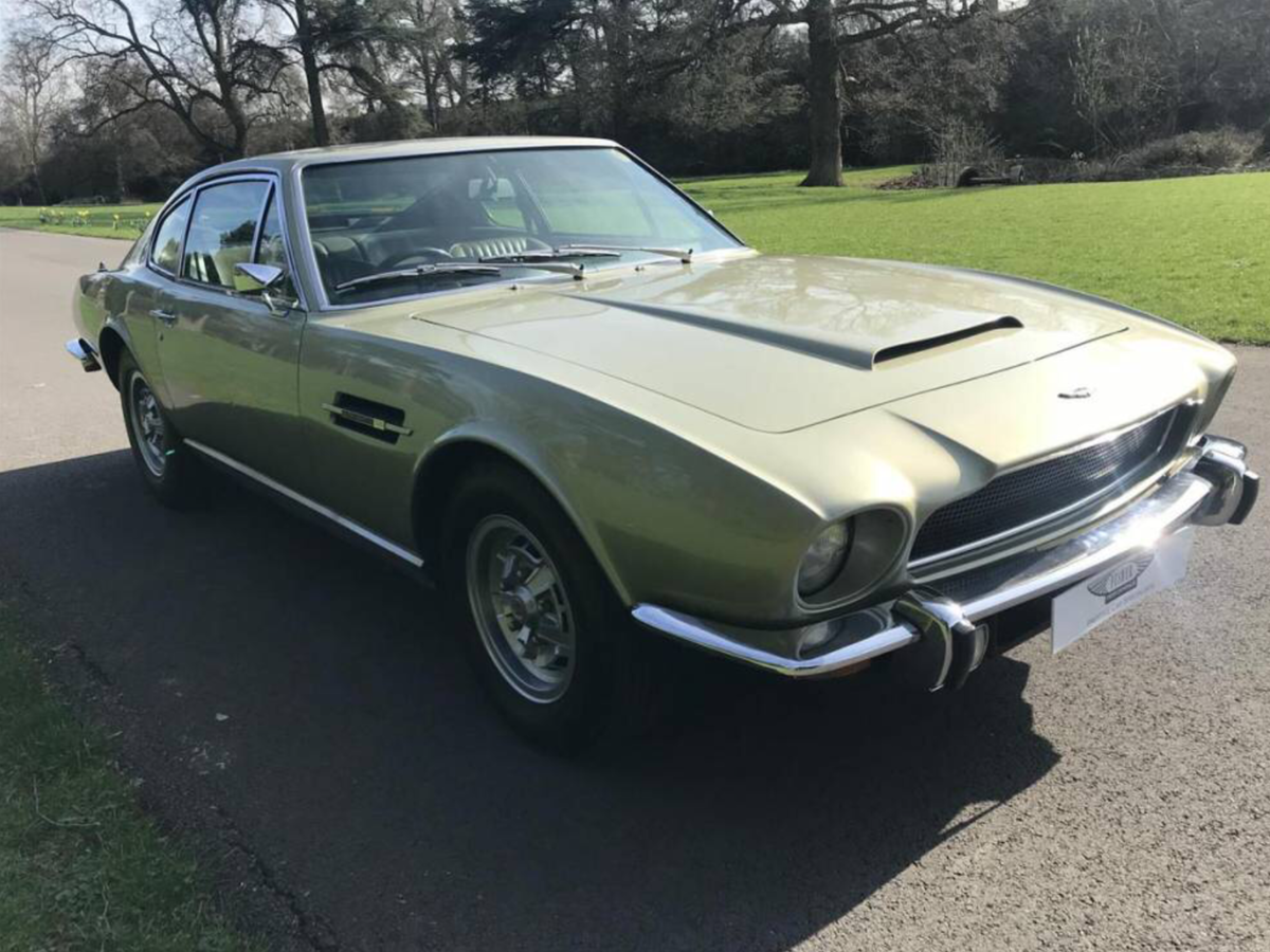 1973 Unique One Owner Aston Martin Vantage Cornish Gold For Sale (picture 2 of 6)