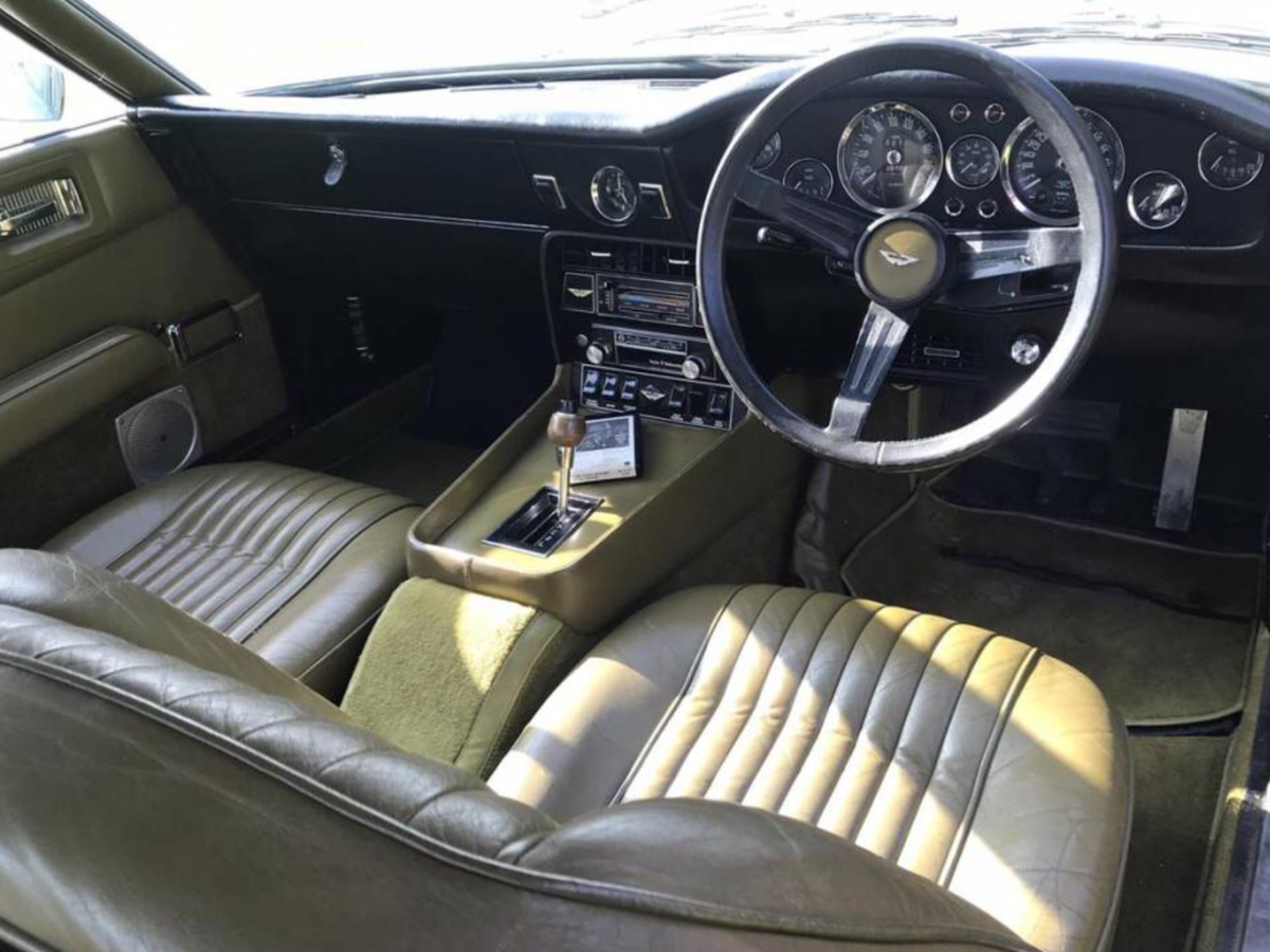 1973 Unique One Owner Aston Martin Vantage Cornish Gold For Sale (picture 5 of 6)