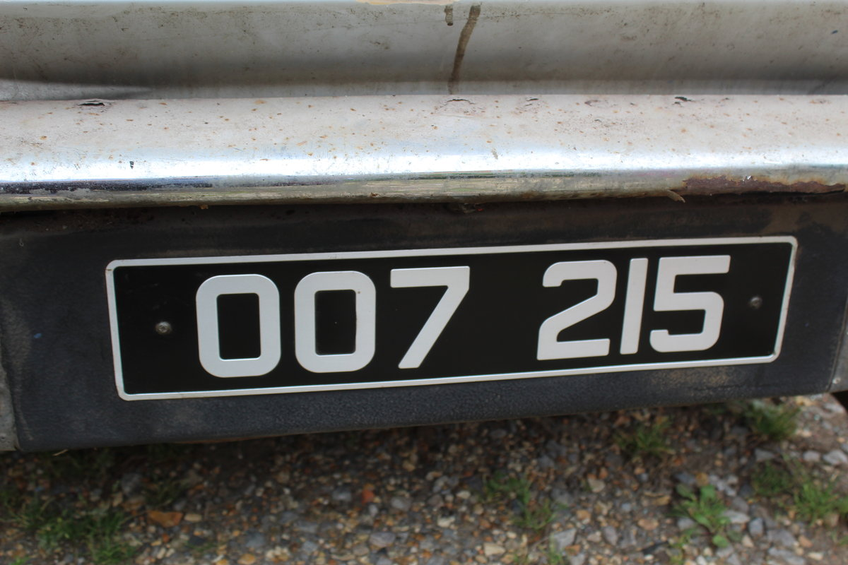 1975 Aston Martin Chassis, Body and Rare Number Plate For Sale (picture 2 of 4)