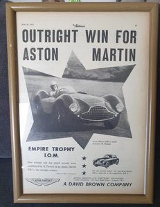 1953 Original Aston Martin DB.2 Advert