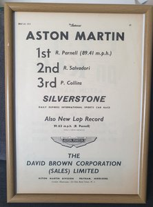 Original 1953 Aston Martin DB.3 Advert