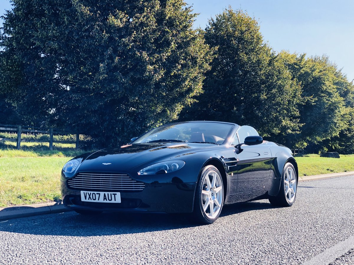 2007 Aston Martin V8 Vantage 4.3L Convertible Sportshift SOLD (picture 1 of 6)