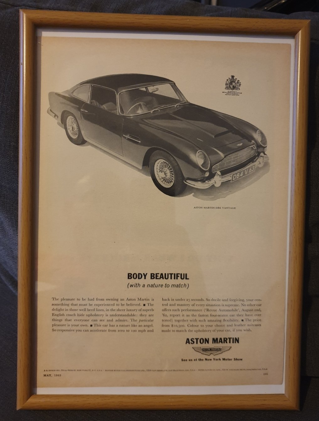 1963 Aston Martin DB4 Vantage Advert Original  SOLD (picture 1 of 2)