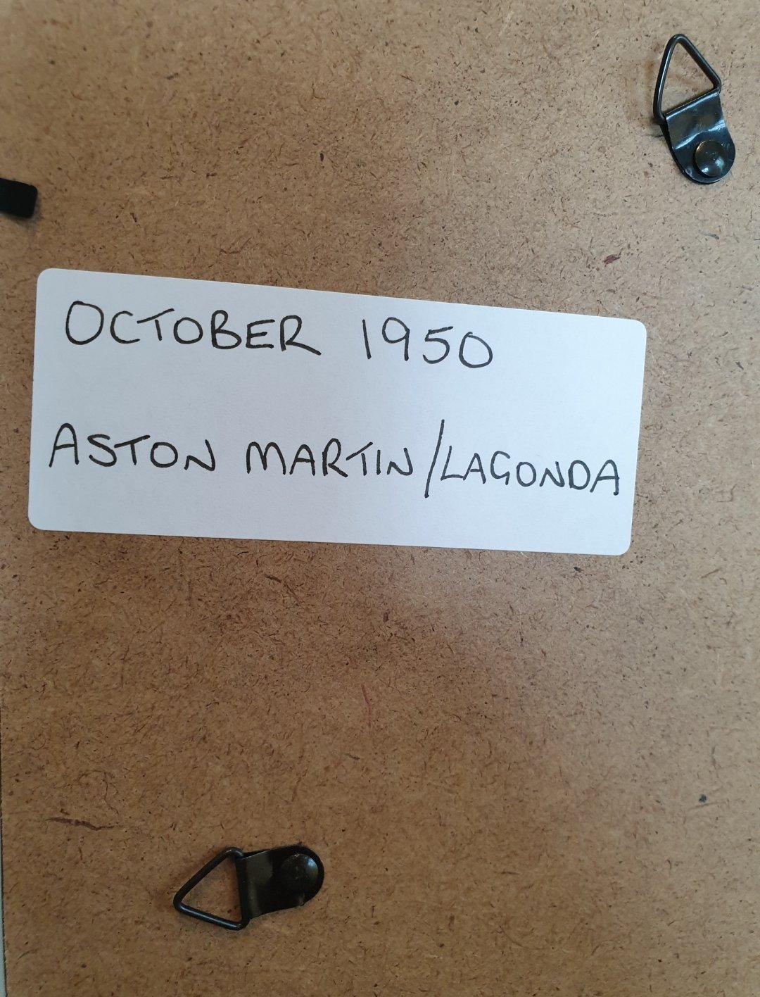 1950 Aston Martin and Lagonda Advert Original  For Sale (picture 2 of 2)