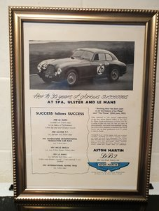 1951 Aston Martin DB2 Advert Original