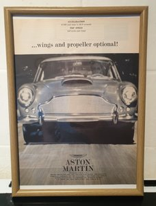 1961 Aston Martin DB4 Framed Advert Original