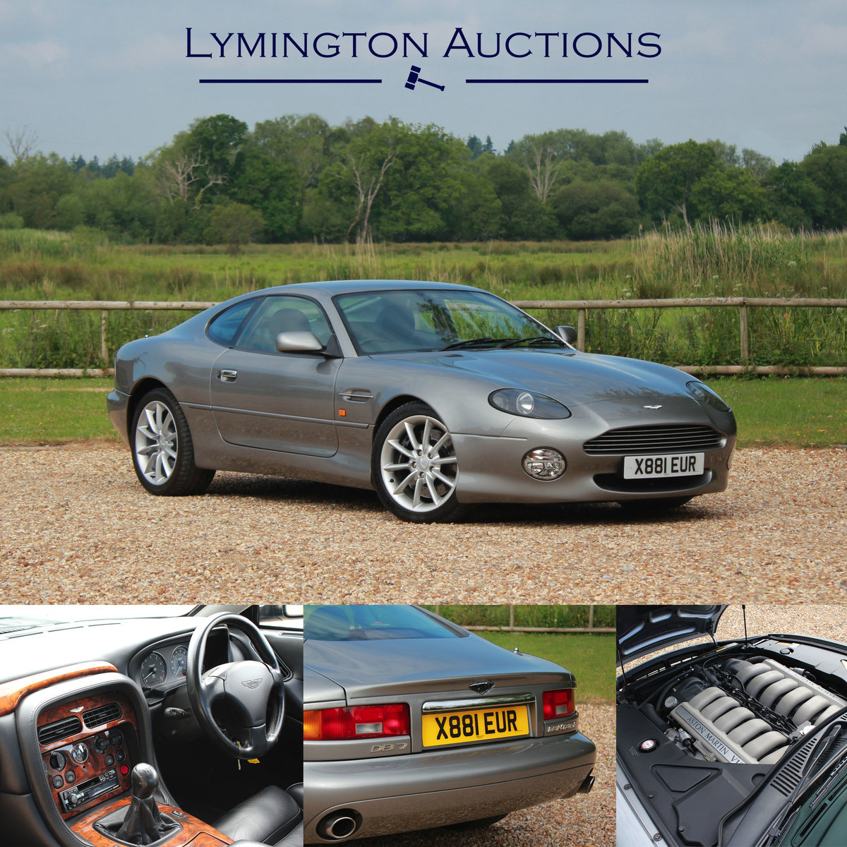 2000 Aston Martin DB7 Vantage Manual V12 Coupe For Sale by Auction (picture 1 of 1)