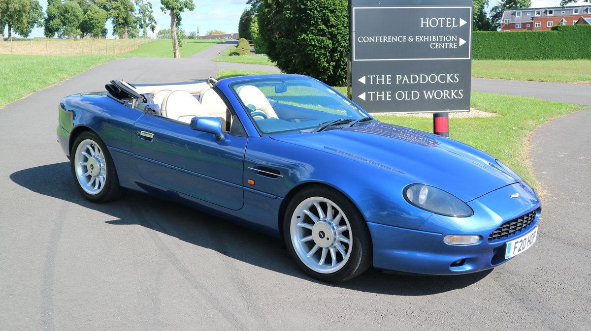 1997 Aston Martin DB7 i6 Volante - finished in Quantock Blue For Sale (picture 1 of 6)