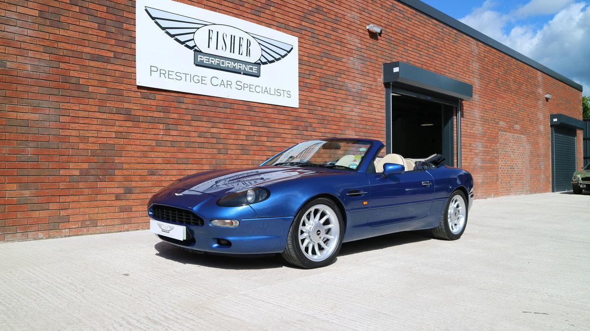 1997 Aston Martin DB7 i6 Volante - finished in Quantock Blue For Sale (picture 2 of 6)