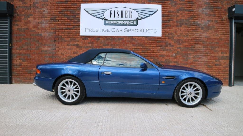 1997 Aston Martin DB7 i6 Volante - finished in Quantock Blue For Sale (picture 4 of 6)