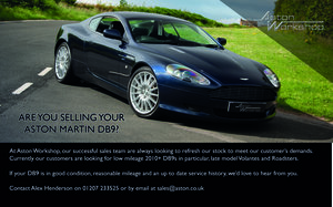 2005 DB9s Wanted - Purchase, Part Ex or Consignment Wanted