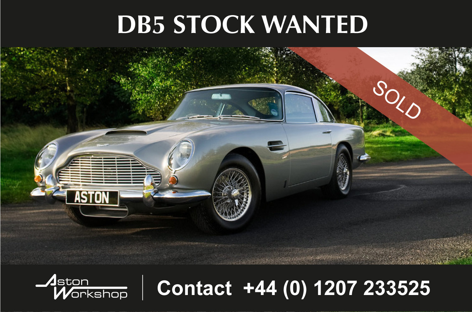 1963 DB5 Stock Wanted Wanted (picture 1 of 1)