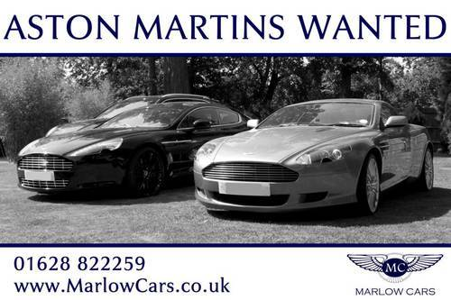 All Aston Martin Models Wanted  Wanted (picture 1 of 1)