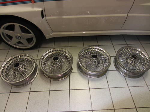 Set of 4 DB 4 chrome wire wheels For Sale (picture 1 of 1)