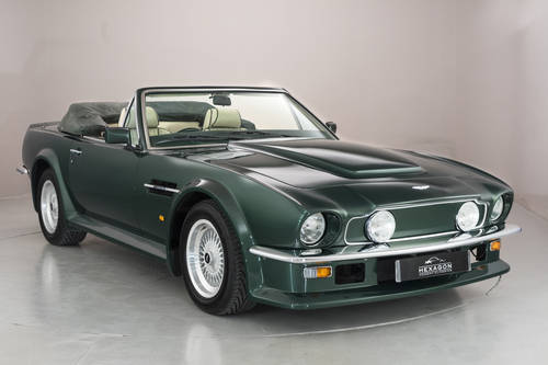 1989 ASTON MARTIN V8 VANTAGE VOLANTE X-PACK, MANUAL SOLD (picture 1 of 6)