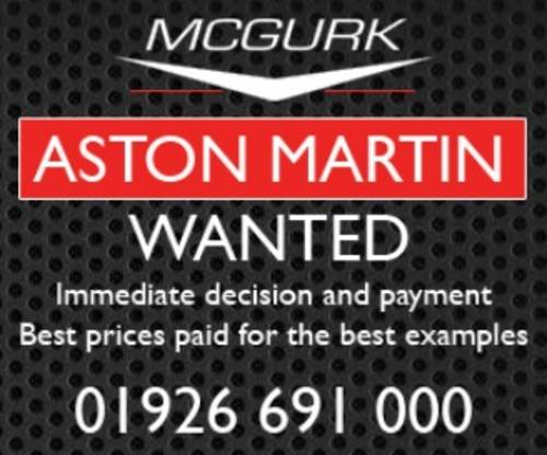 Aston Martin WANTED For Sale (picture 1 of 1)