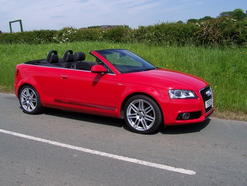 BEAUTIFUL 2010 A3 2.0 TDI S-LINE CONVERTIBLE  FSH NEW MOT    SOLD (picture 1 of 6)