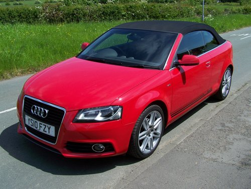 BEAUTIFUL 2010 A3 2.0 TDI S-LINE CONVERTIBLE  FSH NEW MOT    SOLD (picture 2 of 6)