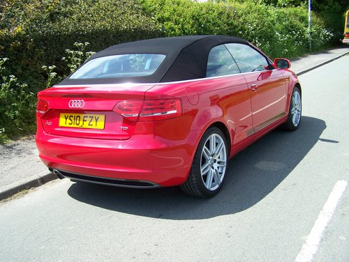 BEAUTIFUL 2010 A3 2.0 TDI S-LINE CONVERTIBLE  FSH NEW MOT    SOLD (picture 4 of 6)