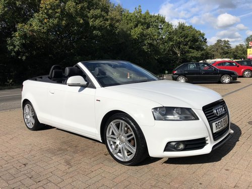2010 (10) Audi A3 2.0 TDi S-line Cabriolet SOLD (picture 1 of 6)