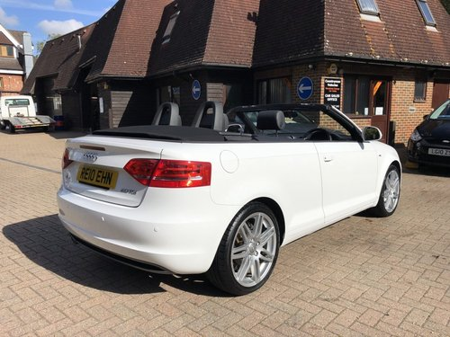 2010 (10) Audi A3 2.0 TDi S-line Cabriolet SOLD (picture 3 of 6)