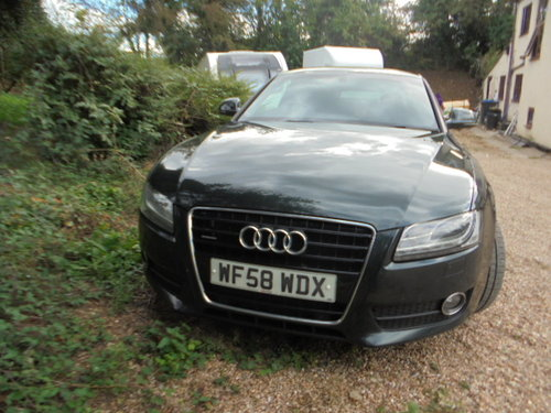 2008 A/5 AUDI 3 LTR AUTO DIESEL COUPE IN METALLIC  GREEN  F.S.H  For Sale (picture 1 of 6)