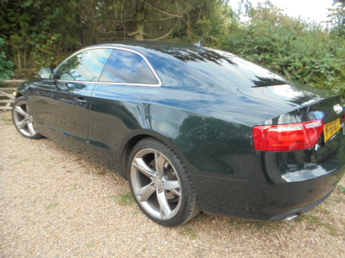 2008 A/5 AUDI 3 LTR AUTO DIESEL COUPE IN METALLIC  GREEN  F.S.H  For Sale (picture 2 of 6)