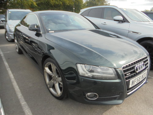 2008 A/5 AUDI 3 LTR AUTO DIESEL COUPE IN METALLIC  GREEN  F.S.H  For Sale (picture 6 of 6)
