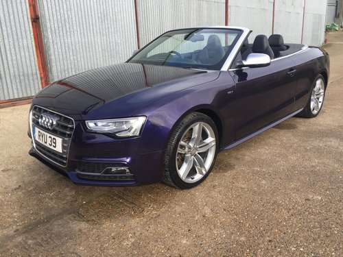 2013 Stunning Audi S5 Cabriolet 3.0 TFSI For Sale (picture 1 of 6)