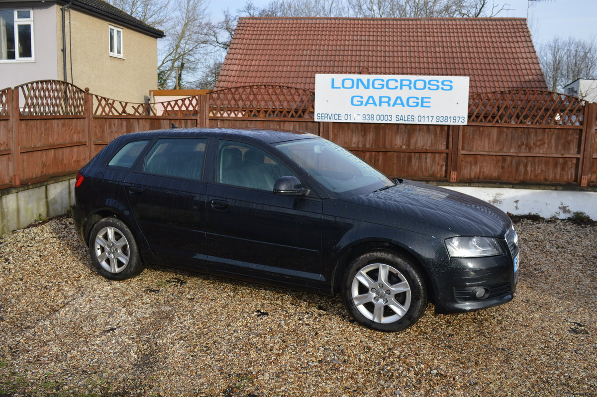 2010 Audi A3 1.6 TDI SE Sportback 5dr BLACK FULL LEATHER For Sale (picture 1 of 6)