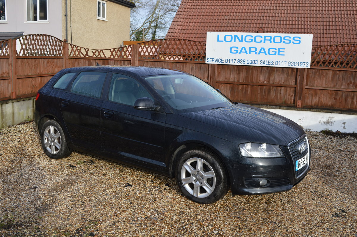 2010 Audi A3 1.6 TDI SE Sportback 5dr BLACK FULL LEATHER For Sale (picture 2 of 6)