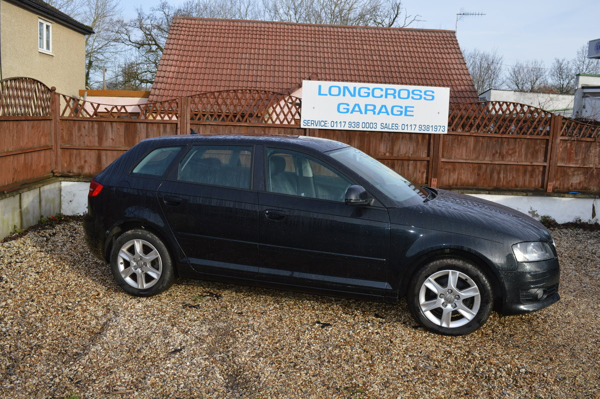 2010 Audi A3 1.6 TDI SE Sportback 5dr BLACK FULL LEATHER For Sale (picture 3 of 6)