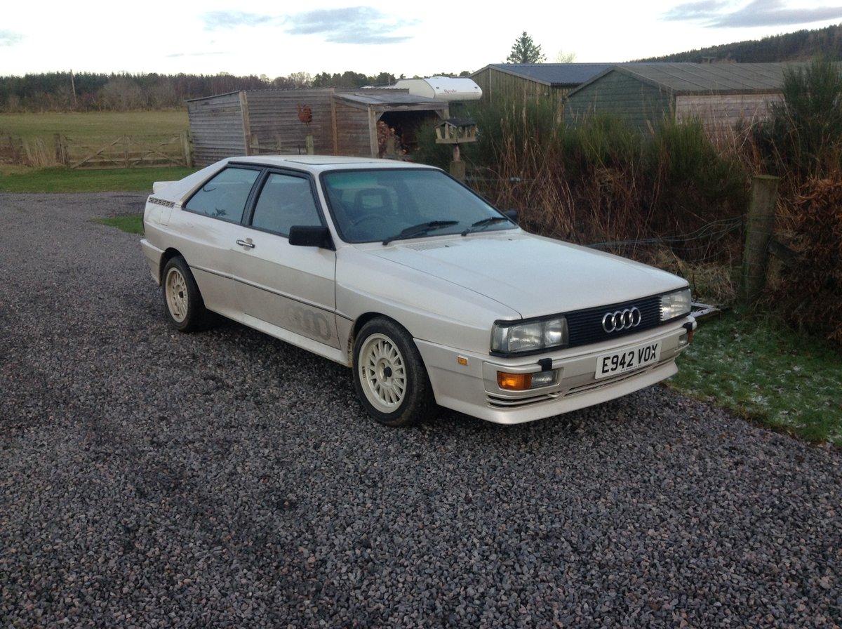 1987 Audi UR Quattro turbo pearl white 88,000 miles  SOLD (picture 6 of 6)