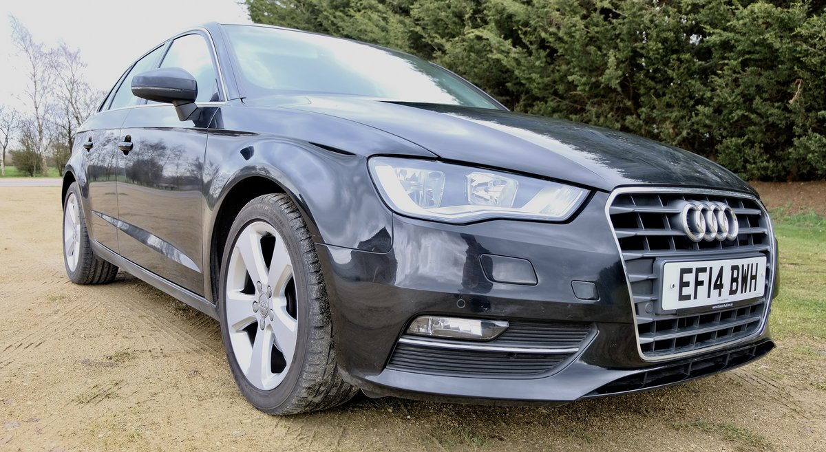 AUDI A3 1.6 TDI SPORT 2014 BLACK For Sale (picture 1 of 6)