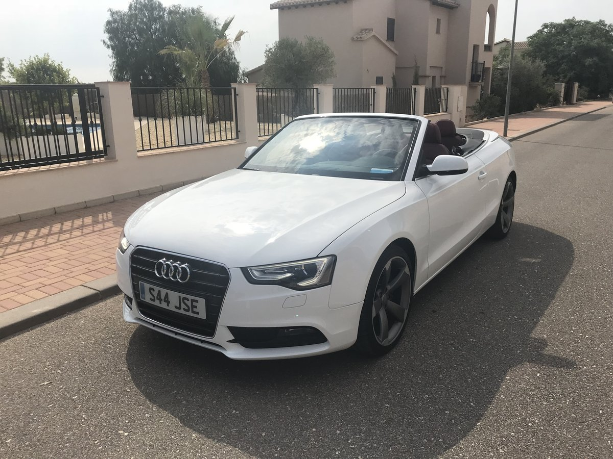 LHD Audi A5 Convertible 2013 Automatic  For Sale (picture 2 of 3)